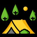 First Landing Camping Logo