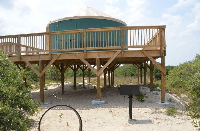 First Landing Camping Elevated Yurt