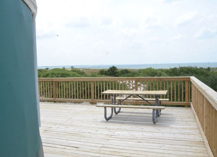 First Landing Camping Yurt Deck With Ocean View