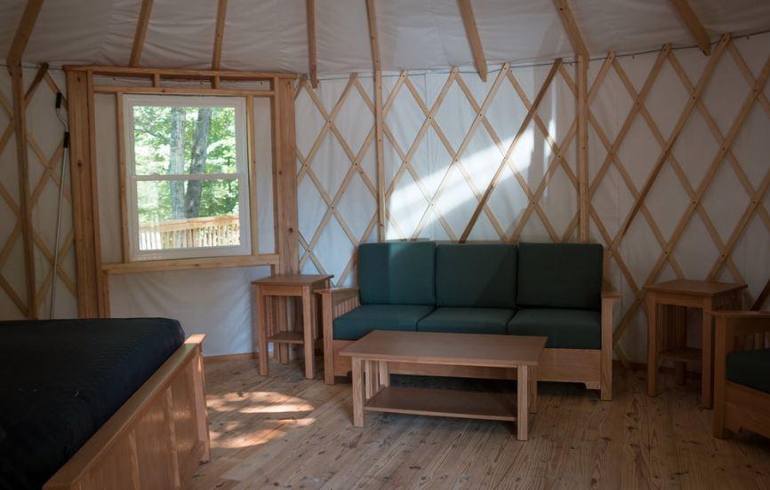 First Landing Camping Yurt Interior