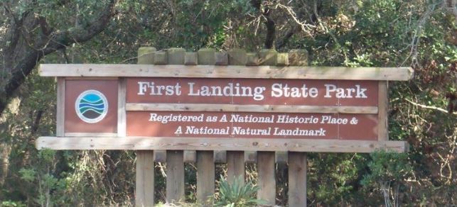 First Landing State Park Sign