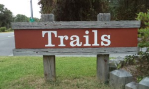 First Landing State Park Trails Sign